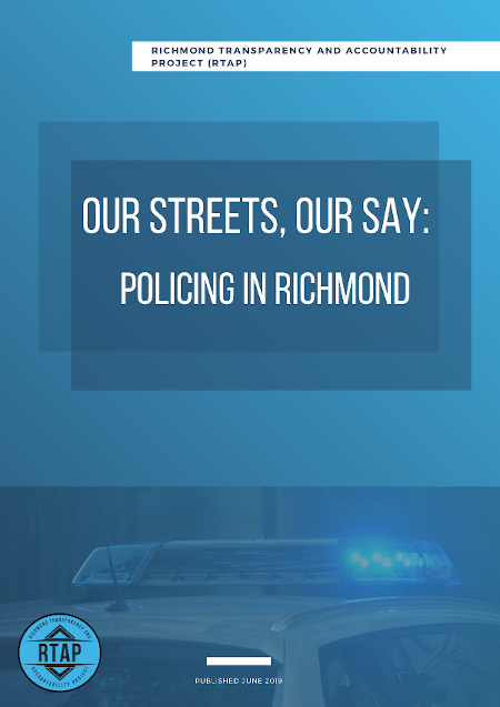 Cover of 'Our Streets, Our Stay - Policing in Richmond - RTAP Report'